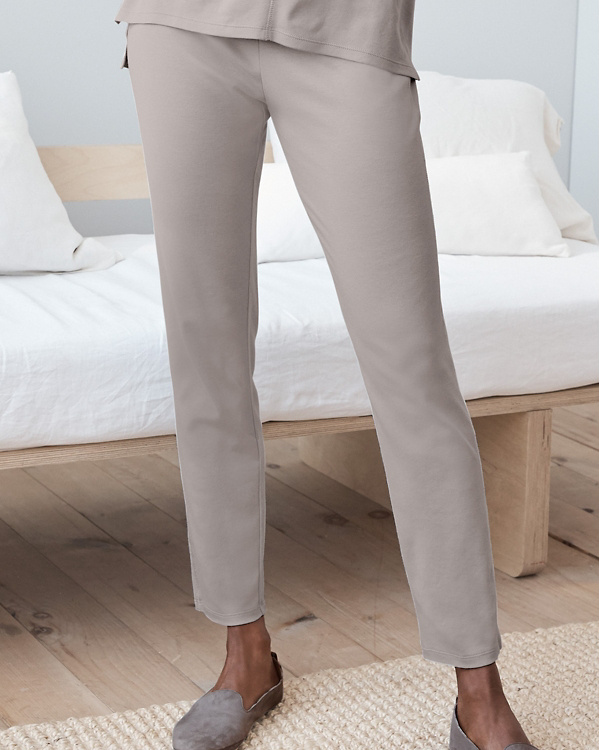 f49b9b3f22 EILEEN FISHER Seam-Detail Ankle Pajama Pants
