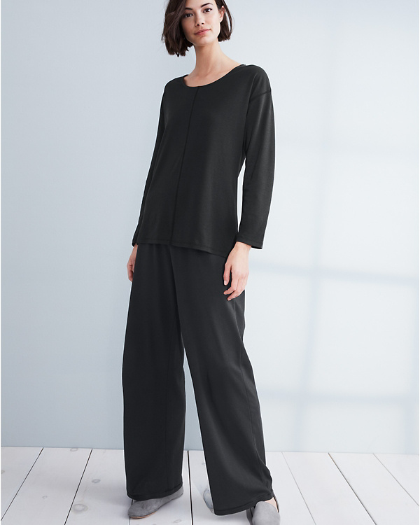 eabebdd9db EILEEN FISHER Seam-Detail Wide-Leg Pajama Pants