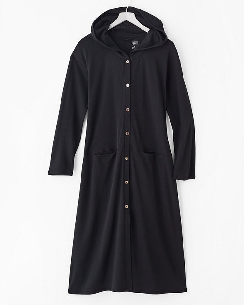 eileen fisher seam detail button front hooded robe - Nordstrom Christmas Pajamas