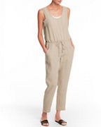 Linen Surplice-Back Jumpsuit