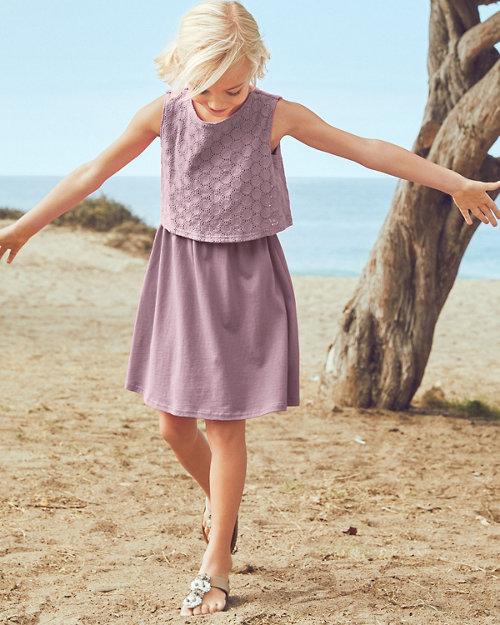Girls  Eyelet-Overlay Knit Dress c0d646097