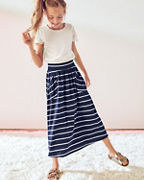 Girls' Pima Cotton Knit Maxi Skirt