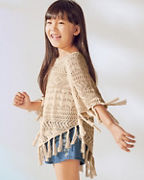 Girls' Pointelle Poncho