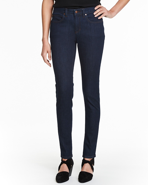 3a9319a787751 EILEEN FISHER Organic-Cotton Stretch Skinny Jeans | Garnet Hill