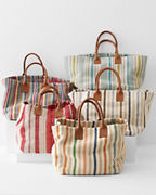Garnet Hill Woven Stripe Storage Baskets