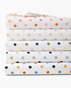Polka-Dot Percale Bedding