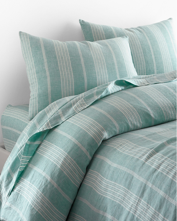 Linen Yarn Dyed Stripe Bedding And Pillow Cover Garnet Hill