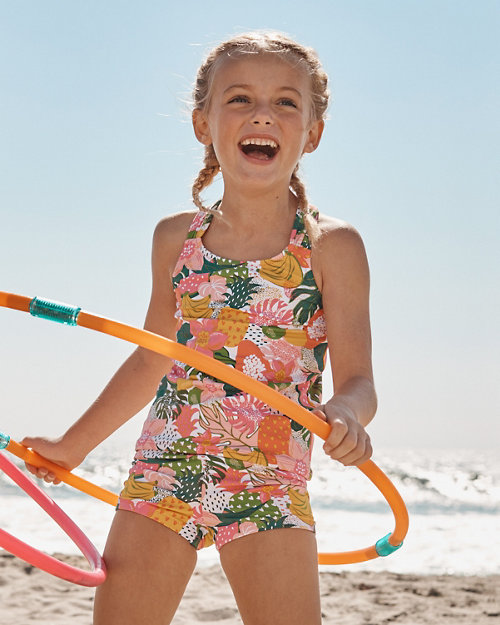 f6b9e7ef76 Wave Rider Girls  Scrunch-Back Tankini Top