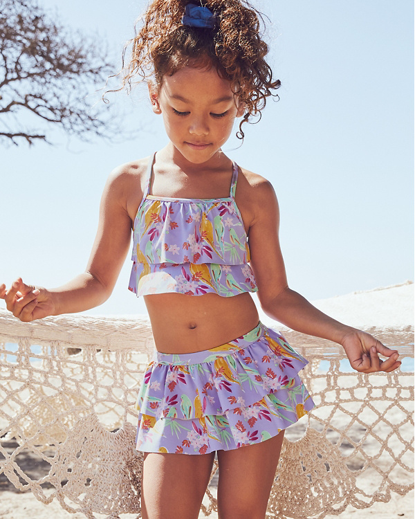 60532e5564 Girls  Flounce-Ruffle Bikini Top