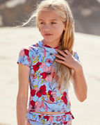 Girls' Essential Short-Sleeve Rashguard
