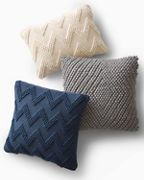 Textured Knit Diamond Pillow