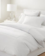 Garnet Hill Signature Scallop Embroidered Percale Duvet Cover