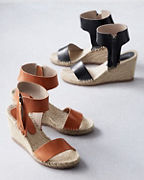 Florence Ankle-Strap Espadrille Wedges
