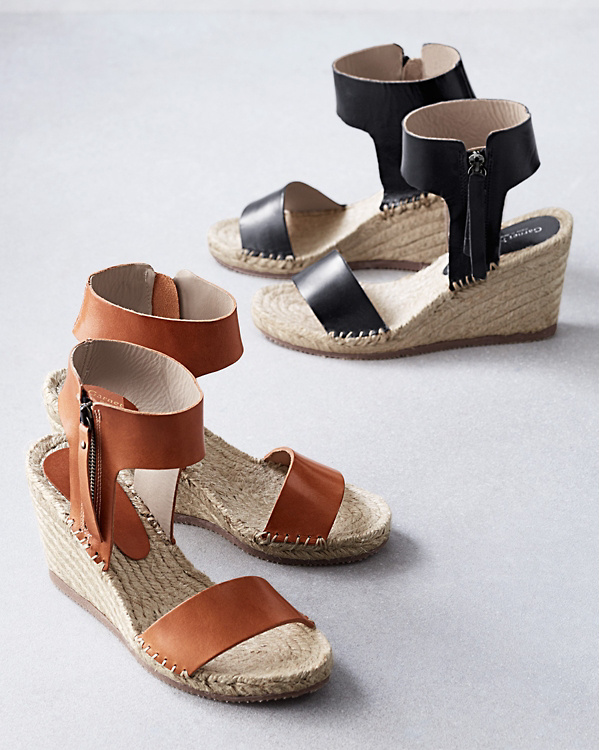 b0780f12100 Florence Ankle-Strap Espadrille Wedges