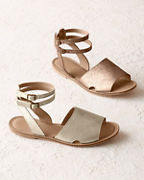 Delfina Ankle-Strap Sandals