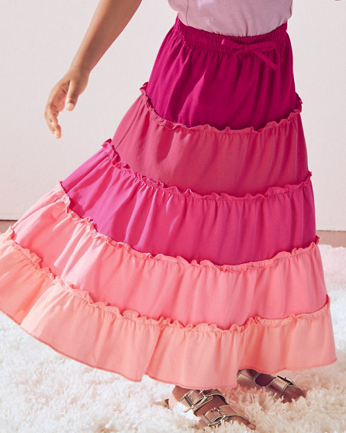 af9696748f21 Girls' Organic-Cotton Tiered Knit Skirt. Quick Shop