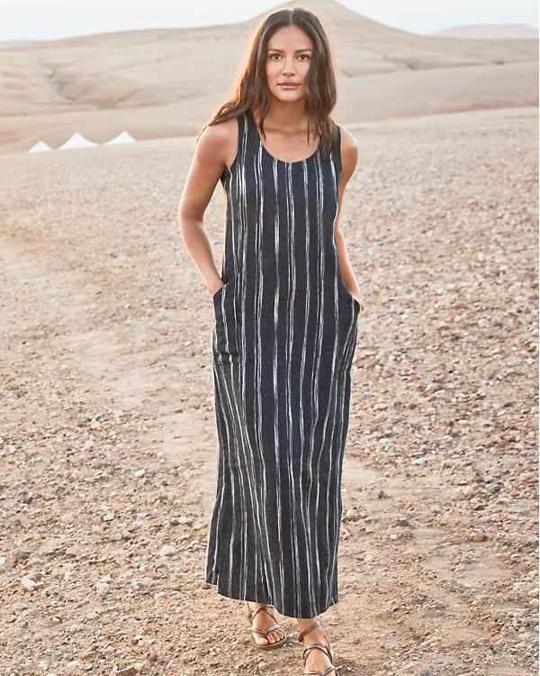 Linen Tank Maxi Dress
