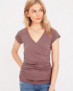 Ruched Surplice Tee