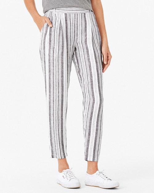 175b71cd225 Linen Pleat-Detail Trousers