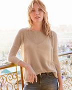 Featherweight-Cashmere Cropped Boxy Sweater