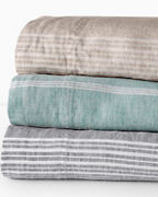 Linen Yarn-Dyed Stripe Bedding and Pillow Cover