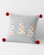 Holiday Knit Trees Pillow
