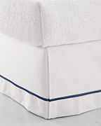 Wrinkle-Resistant Embroidered Sateen Bedskirt