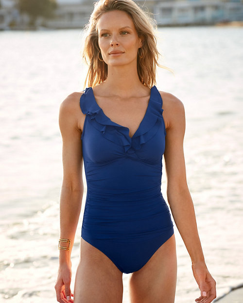 1818c49f67d8f Ralph Lauren Ruffle One-Piece Swimsuit