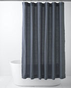 Garnet Hill Relaxed-Linen Shower Curtain