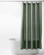 Solid Relaxed-Linen Shower Curtain
