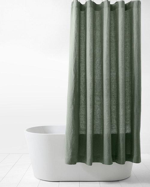 Garnet Hill Relaxed Linen Shower Curtain