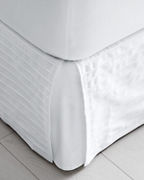 Pleated Tailored Cotton Bedskirt