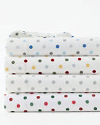 Polka-Dot Flannel Bedding