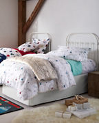 Alpine Ski Lift Flannel Bedding and Pillow Cover