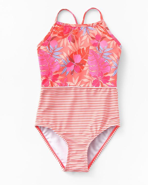 4a447d920 Snapper Rock Girls' One-Piece Swimsuit