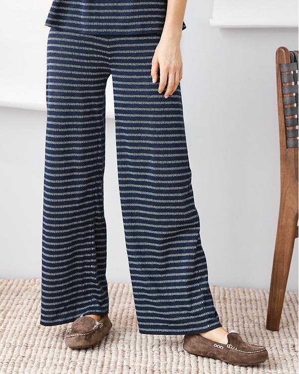 a424a4e838e Organic-Cotton Rib-Detail Wide-Leg Sleep Pants