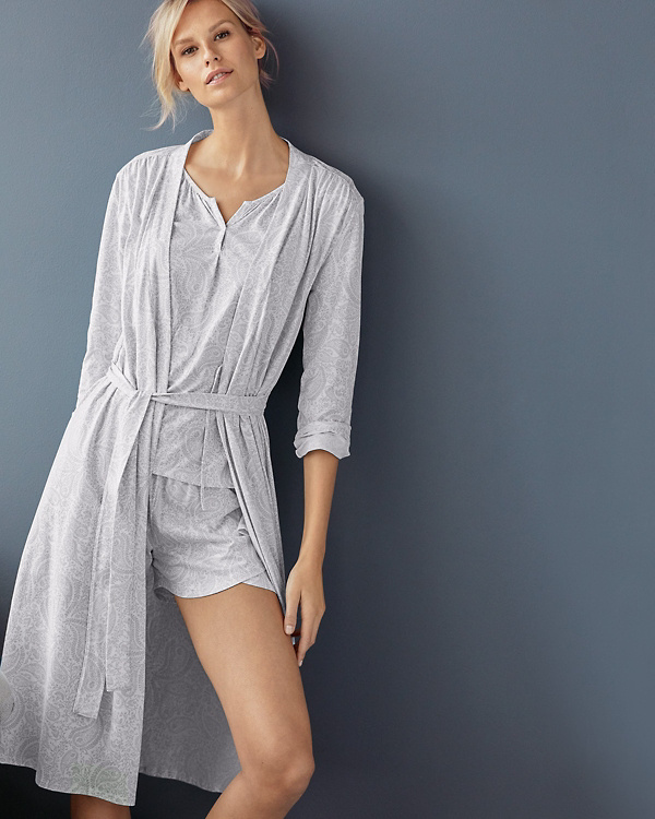 5a3c9ee55b Organic-Cotton Ruched-Seam Knit Robe