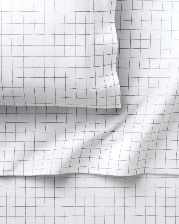 Windowpane Jersey Knit Fitted Sheet