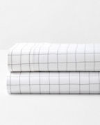 Windowpane Jersey-Knit Bedding