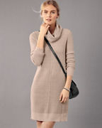 Easy Cowl-Neck Sweater Dress