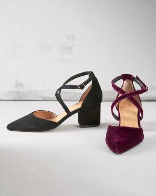 Esta Crossover Strap Heels by Garnet Hill