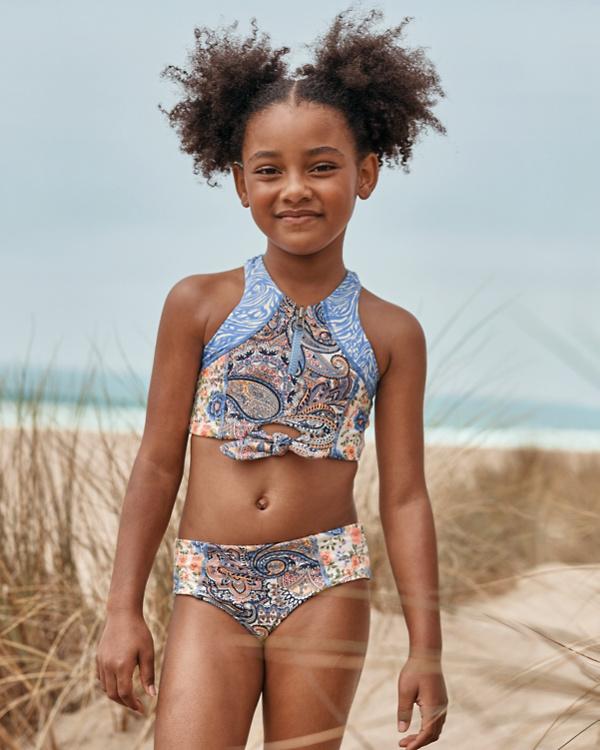 20b9fa9ef21ab Maaji Girls' Sporty Zip Bikini | Garnet Hill