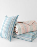 Multistripe Essential Down Comforter and Sham