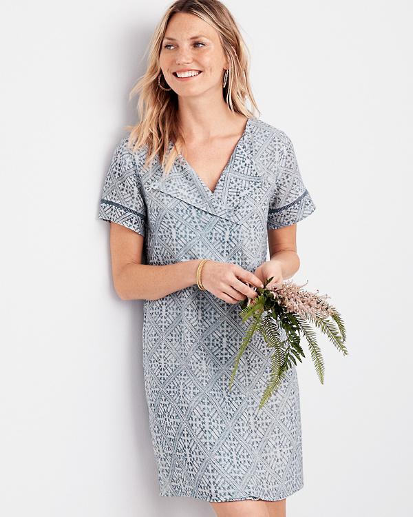 6c3dce3ba1753 Lilla P Woven Gauze Short-Sleeve Dress | Garnet Hill