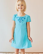 Girls' Organic-Cotton Embroidered Knit Dress