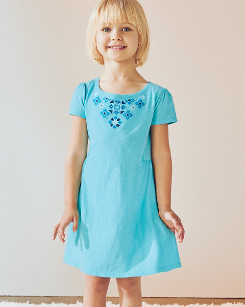 42133358029ce Girls  Organic-Cotton Embroidered Knit Dress