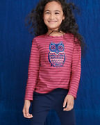 Girls' Organic-Cotton Embellished Graphic Tee