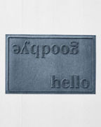Hello/Goodbye Water Guard Mat