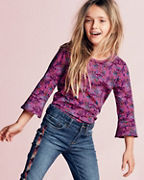 Girls' Printed Organic-Cotton Tee