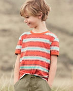 Boys' Organic-Cotton Ringer Tee